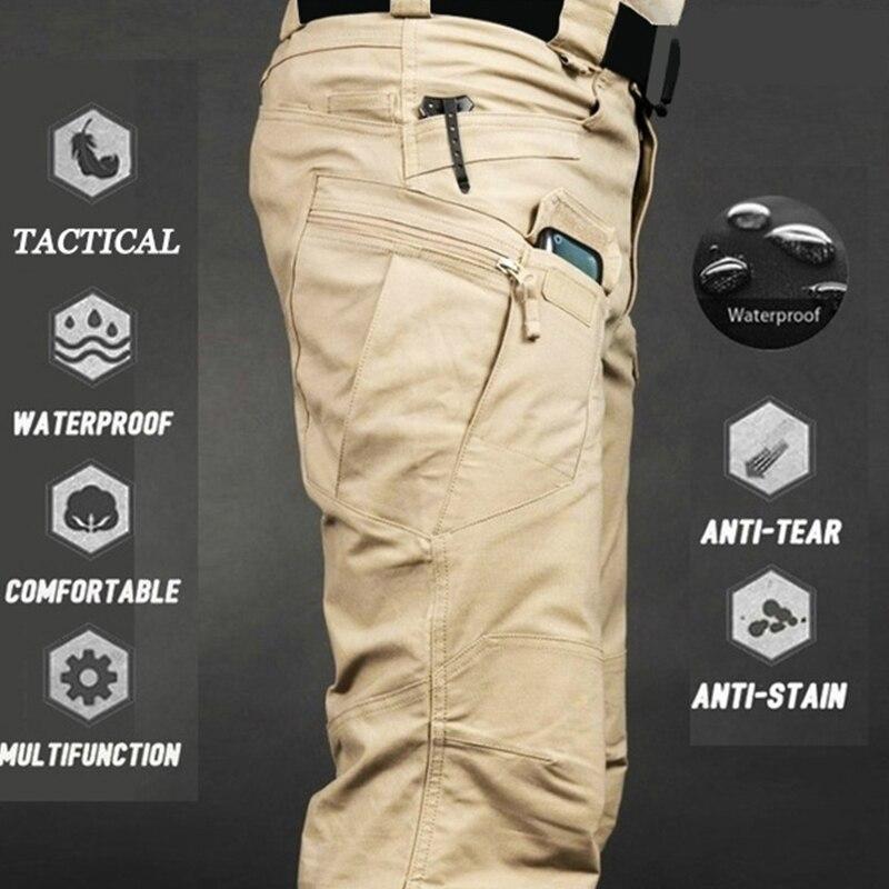 Mens Waterproof Cargo Pants Elastic Multiple Pocket Military Male Trousers Outdoor Joggers Pant Plus Size Tactical Pants Men